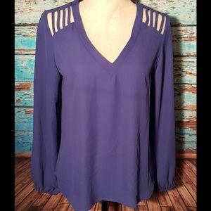 Lily Star Purple Tunic Blouse